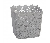 Store basket with a big flower pattern