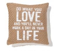 "Cushion cover ""Love life"""