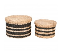 Store basket with a can Stripes, big