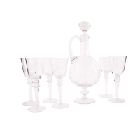Decanter set with 6 wine glasses