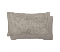 "Cushion ""Knitted"", light grey"
