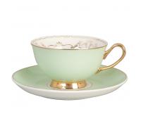 """Kohvi- või Teetass alusega """"Versailles"""", õrn roheline"""