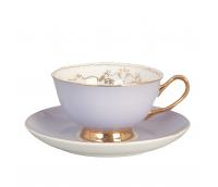 """Kohvi- või Teetass alusega """"Versailles"""", lilla"""