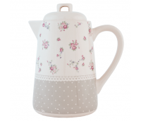 "Milk, coffee and tea jug with lid, range ""Dots & Flowers"""