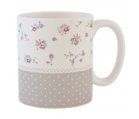 "Mug for tea or coffee, range ""Dots & Flowers"""
