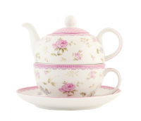 "Tea or coffee for one with cup and saucer, range ""Elegant Rose"""