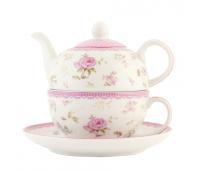 """Teekann või Kohvikann ühele teetassi- ja alusega, seeria """"Elegantne Roos"""""""