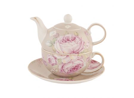"Tea or coffee for one with cup and saucer, range ""Rose from Paris"""