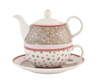 "Tea or coffee for one with cup and saucer, range ""Flowerful"""