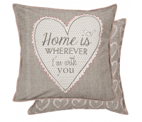 """Cusion Cover """"Home is wherever I'am with you"""""""