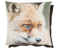 "Cushion Cover ""Fox in winter forest"""