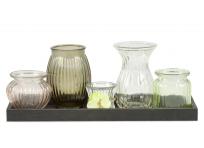 """Vases on a tray """"Diamond dreams"""""""